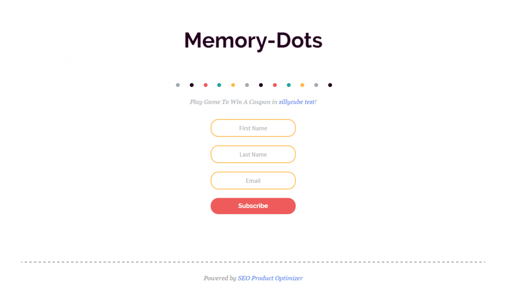 Memory-dots - the first game marketing campaign we created